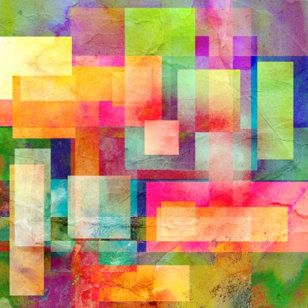colorful abstract design with different geometric elements Banque d'images