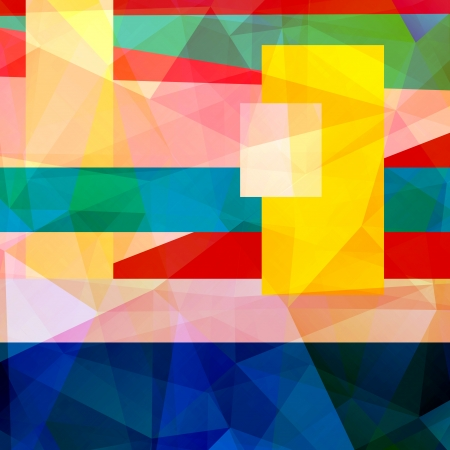 Abstract bright colorful background with different geometric elements  photo