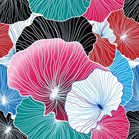 珍しい要素の明るいグラフィック抽象的な色パターン