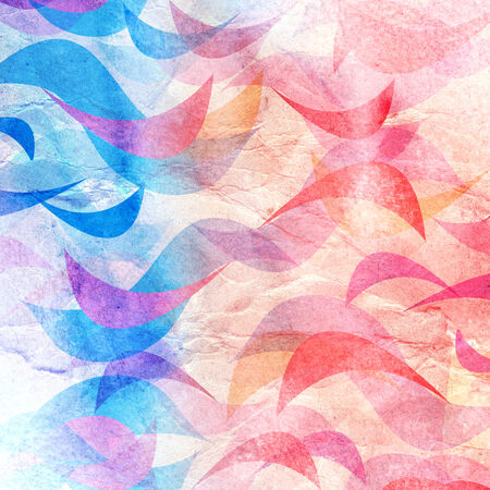 Bright colorful abstract background of the various elements on watercolor background