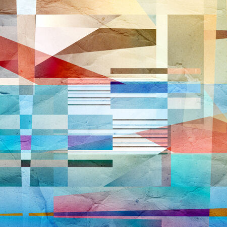 coatings: bright colored watercolor illustration with abstractions .