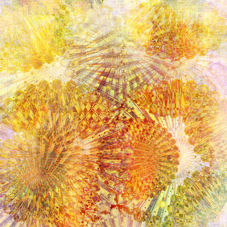 recurrence: watercolor bright abstract background of different elements