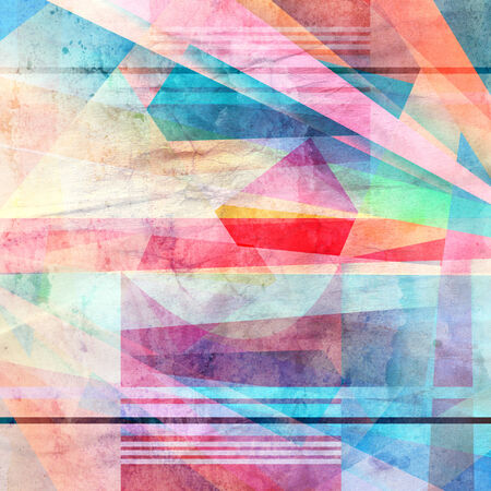 relapse: watercolor colorful background abstract geometric elements