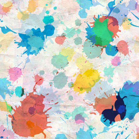 recurrence: watercolor bright abstract background of spray paints