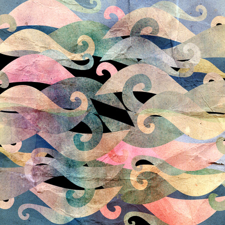 recurrence: watercolor background graphic abstract wavy elements