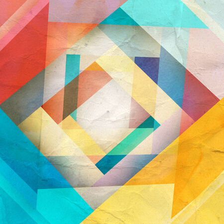 recurrence: watercolor color background abstract geometric elements
