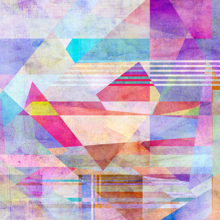 relapse: watercolor background colorful abstract geometric elements    Stock Photo