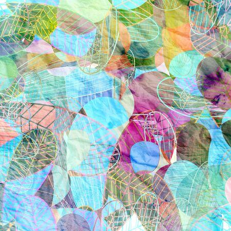 revestimientos: Fondo colorido abstracto de elementos vegetales