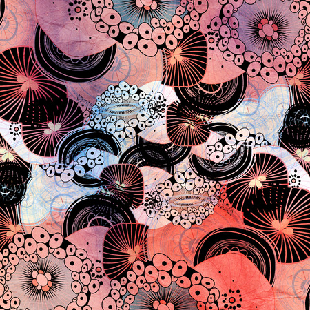 coatings: abstract colorful background of graphic elements