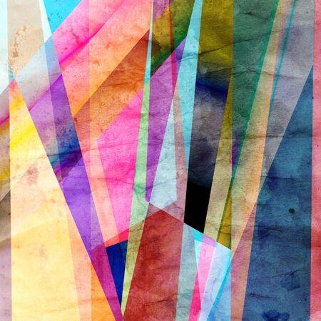 revestimientos: Fondo colorido abstracto colorido de los elementos geom�tricos Foto de archivo