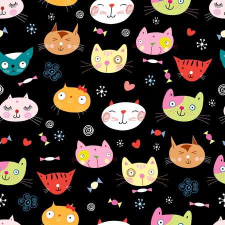 textuur van de fun loving katten Stock Illustratie