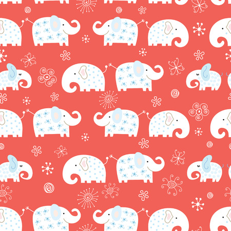 Carved elephant pattern Vector