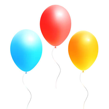 surprisingly: colorful festive balloons on a white background