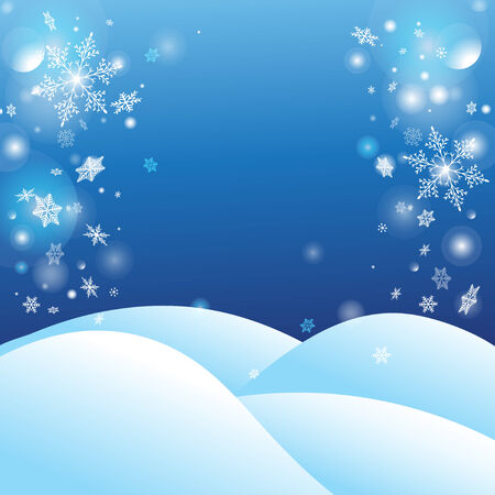 snow drifts: Christmas vector winter background with snow drifts