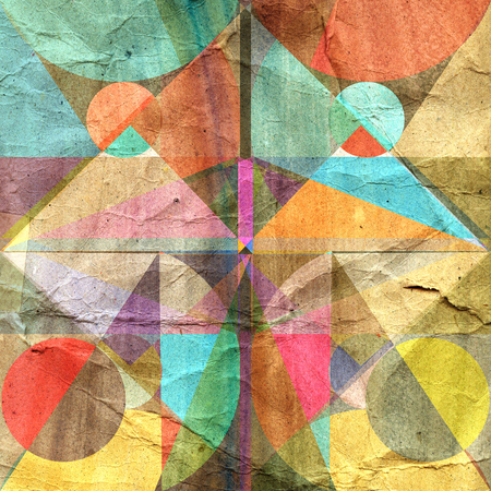 multicolored: bright multicolored abstract background of geometric elements Stock Photo
