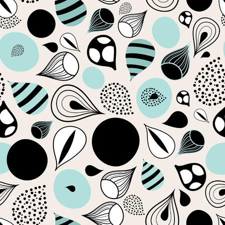 spot the difference: bright graphic abstract pattern of drops