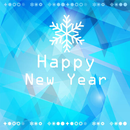 bright winter abstract background with snowflakes and greetings Vector