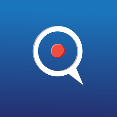 bright graphic icon target on a blue background