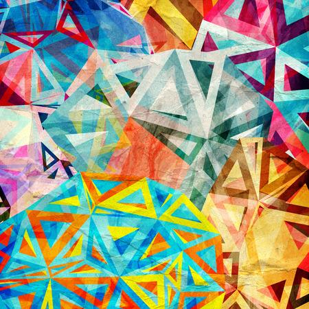 幾何学的三角形要素と抽象的な背景のグラフィック 写真素材