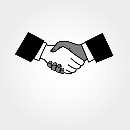 ministry: graphical icons handshake on a light background