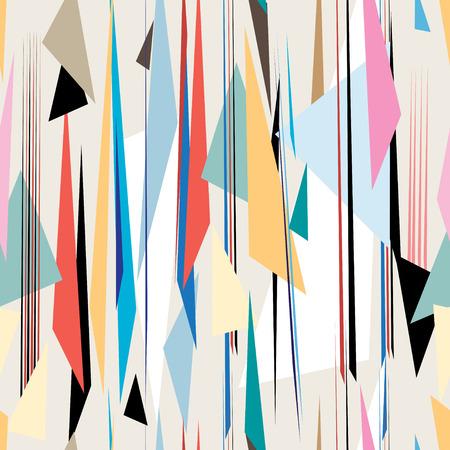 明るい背景の明るい抽象的な幾何学的なグラフィック パターン  イラスト・ベクター素材