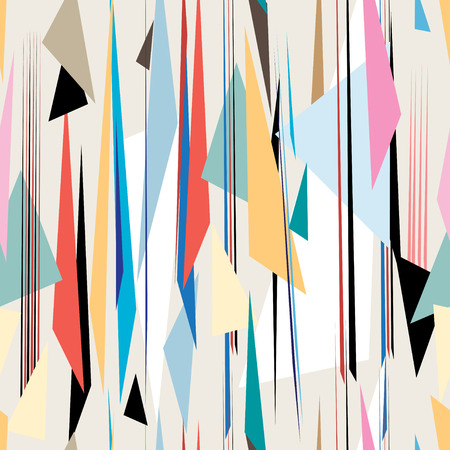 bright abstract geometric graphic pattern on a light background