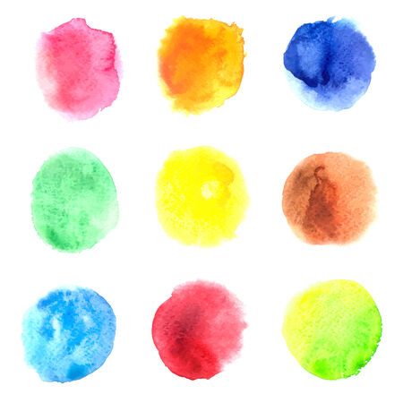 Colorful vector isolated Watercolors circles Illustration