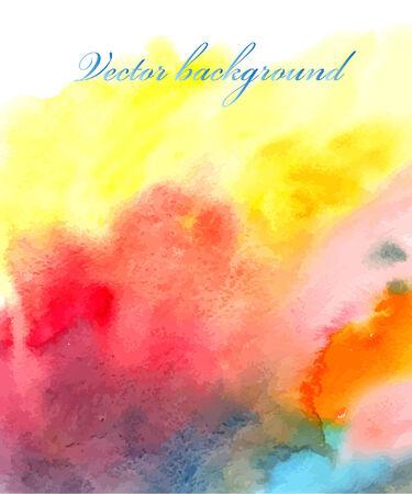 bright multicolored watercolor vector background