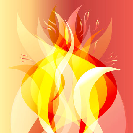 smell of burning: abstract bright fiery background of the various elements