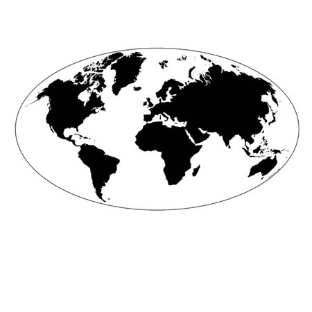 conditionally: drawing graphics card of the earth on a white background