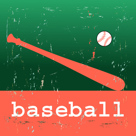 bright poster illustration of the sport of baseball