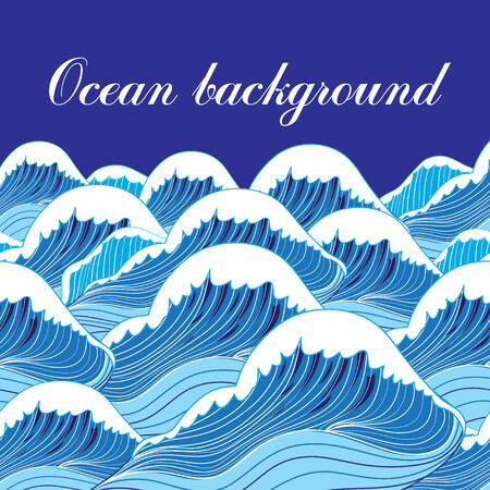 ocean waves: bright graphic a ocean blue waves background