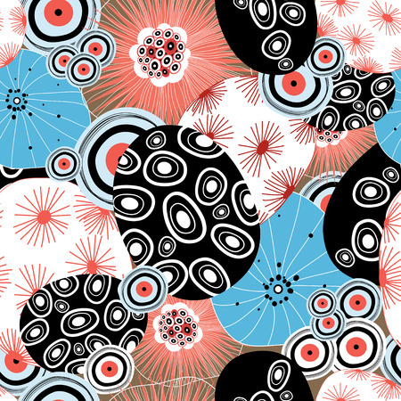 abstracte vormen: beautiful graphic a pattern from abstract forms Stock Illustratie