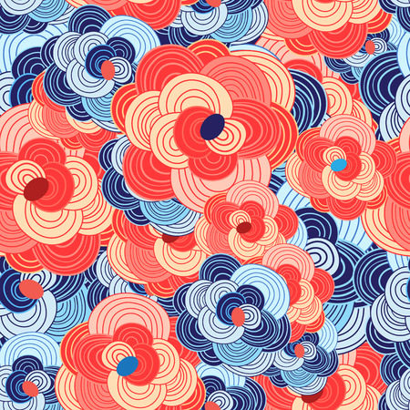 reproduce: seamless colorful beautiful graphic floral pattern