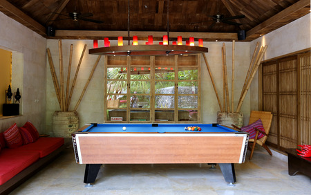 billiards room: Photo exotic room to play billiards in the hotel