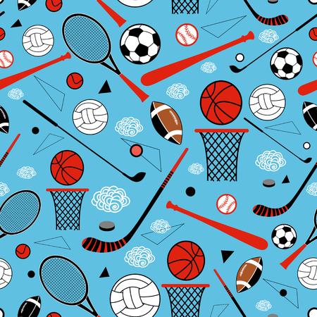 sporting goods: de color patr�n gr�fico art�culos deportivos sobre un fondo azul Vectores