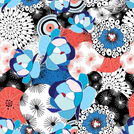 abstrakcje: Wzór graficzny piękna kwiatów i abstrakcji