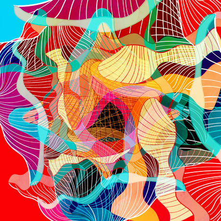 graphic een abstracte achtergrond met geometrische elementen