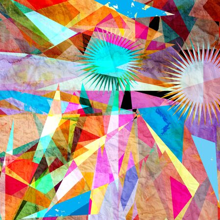 web2: bright colorful abstract  vector background with triangles