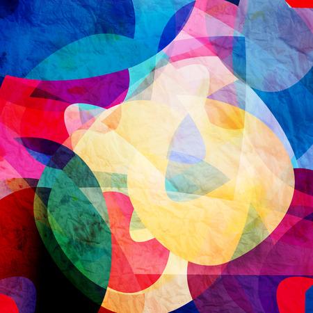 watercolor a retro background of abstract elements Archivio Fotografico