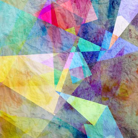 水彩抽象要素のレトロな背景 写真素材