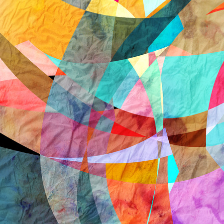 is interesting: watercolor retro abstraction background interesting abstract elements Stock Photo