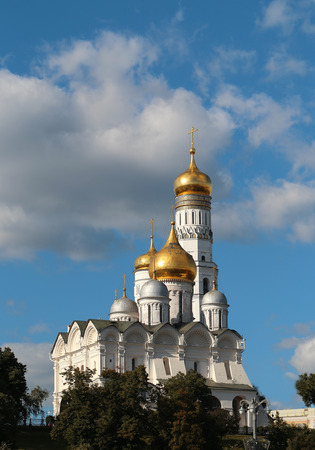 ivan: High bell tower of Ivan the Great in the Moscow Kremlin Stock Photo
