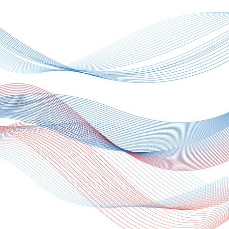 grafische abstracte lijnen op een witte achtergrond