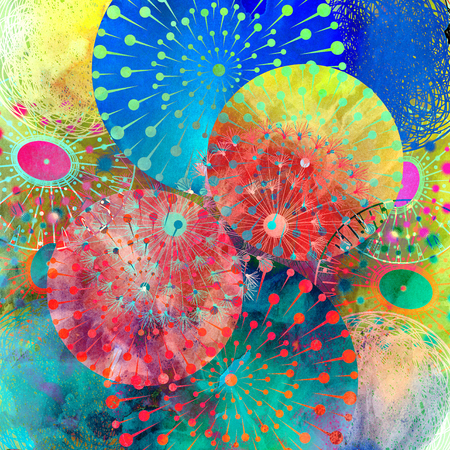 graphic a abstract background with round elements