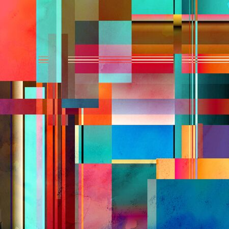strip design: Abstract bright colorful background with different geometric elements