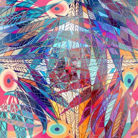 Aquarel een retro achtergrond van abstracte elementen