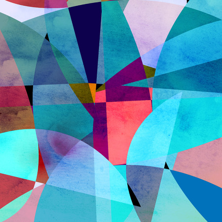 Abstract bright colorful background with different geometric elements Imagens - 45539452