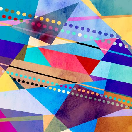 カラフルな抽象的な明るい背景さまざまな幾何学的要素 写真素材