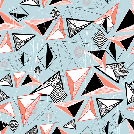 contour: abstract background of triangles and contour lines